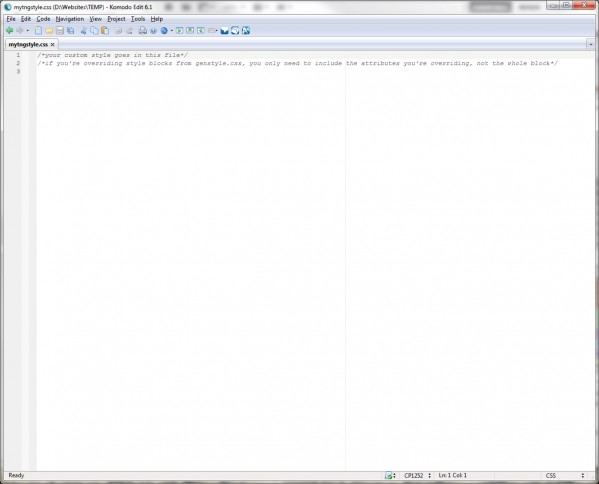 My blank css file (click for full size)
