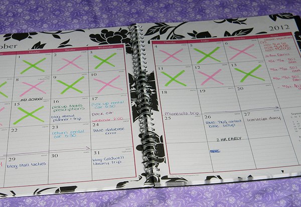My new planner