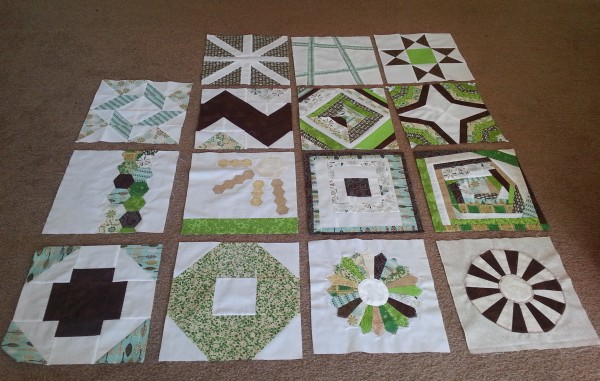 My Block of the Month quilt
