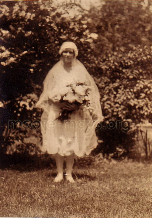 "written on the back: ""Llewellyn on her wedding day"""
