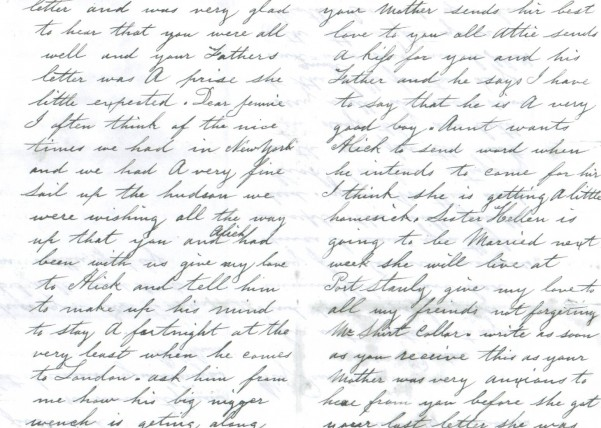 Bell Brodie Letter, 2nd and 3rd pages